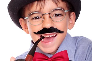 Mustache boy
