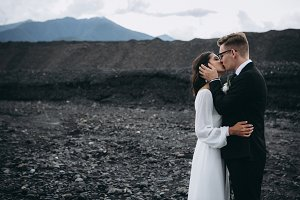 Wedding couple in Iceland
