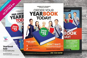Yearbook Sale Flyer Templates