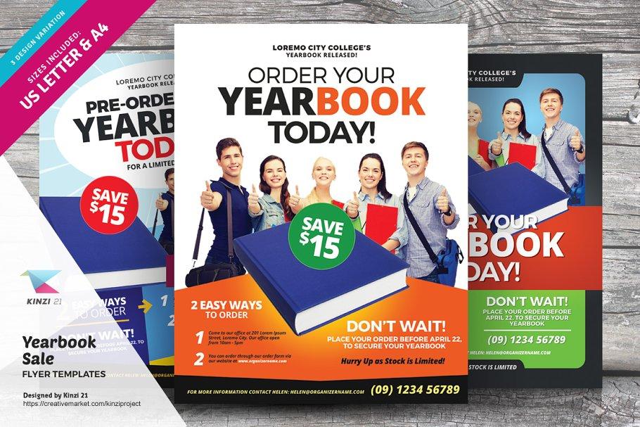 Yearbook Sale Flyer Templates