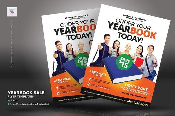 Yearbook Sale Flyer Templates Flyer Templates Creative Market - Yearbook flyer template