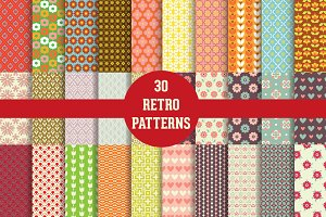 30 Retro Patterns
