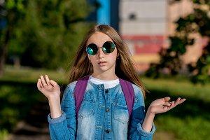 Teenage girl in summer outdoors. In