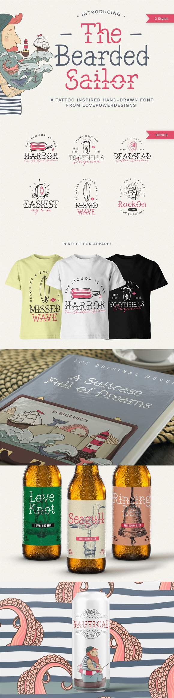 The Bearded Sailor - Tattoo Font in Display Fonts - product preview 14