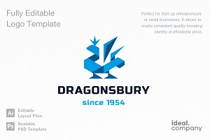 Dragonsbury Logo Template