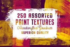 252 Assorted Paint Textures Pack