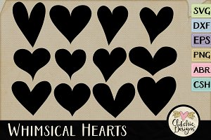 Heart Vector Shapes & Cutting Files