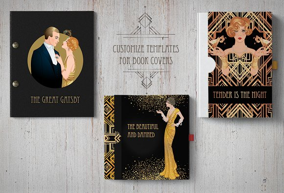 the great gatsby 25 designs vol 1 invitation templates