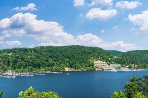 Power boats in summer on Cheat Lake