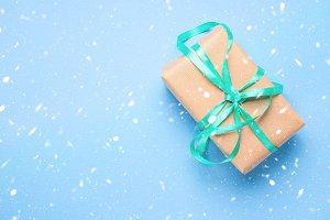 Christmas gift present banner backgr