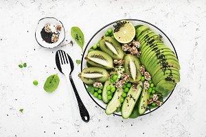 Green fruit vegetables summer detox