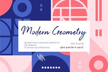 Modern geometric pattern set. by  in Patterns