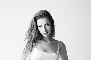 Fashion shot: pretty young woman