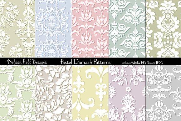 Seamless Damask Patterns