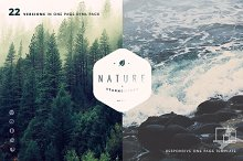 Nature - 22 One Page HTML Template