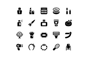 Beauty Glyph Icons