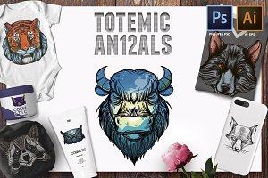 12 totemic animals