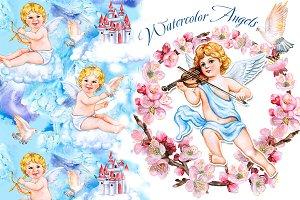 Angels. Amur. Cupid