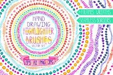 Highlighter  brushes,bordes,wreath