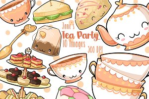 Kawaii Tea Party Clipart