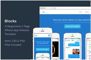 Blocks Iphone Website Template