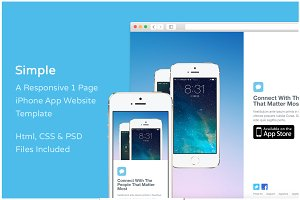 Simple iPhone App Website Template