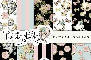 Cat Seamless patterns