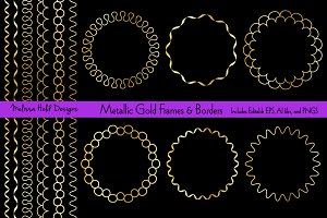 Gold Circle Frames and Borders