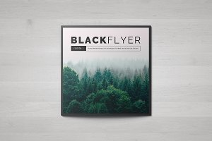 BlackFlyer Square Trifold