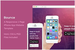 Bounce iPhone App Website Template