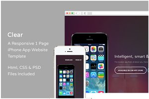 Clear - iPhone App Website Template