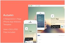 Autumn - iPhone App Website Template