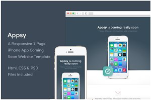 Appsy - Coming Soon Website Template