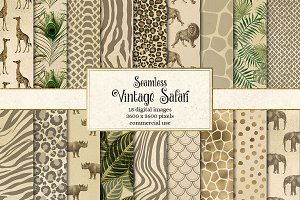 Vintage Safari Digital Paper