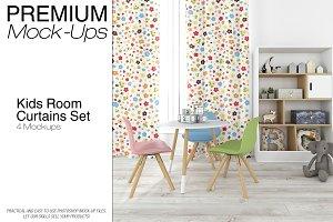 Curtains in Nursery Mockup Set