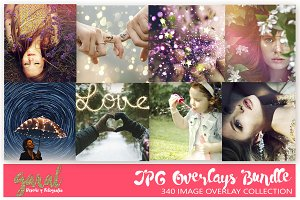 Photo Overlays Bundle, 340 Overlays