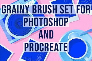 Photoshop & Procreate Grainy Brushes