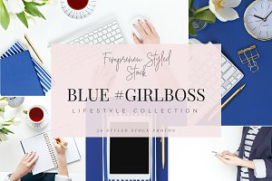 Blue #ladyboss Styled Photo Bundle