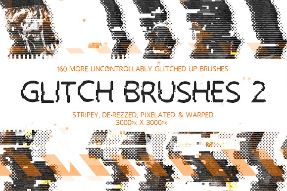 Glitch Brushes 2 in Photoshop Brushes