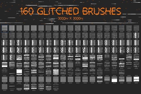 Glitch Brushes 2 in Photoshop Brushes - product preview 1