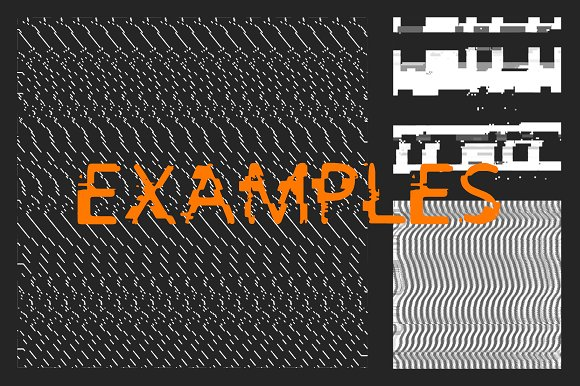 Glitch Brushes 2 in Photoshop Brushes - product preview 2