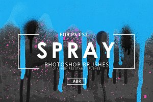 214 Spray Photoshop Brushes