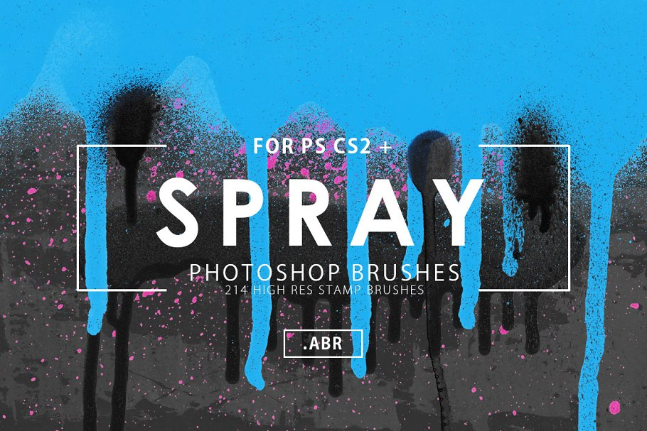 214 Spray Photoshop Brushes ~ Photoshop Add-Ons ~ Creative