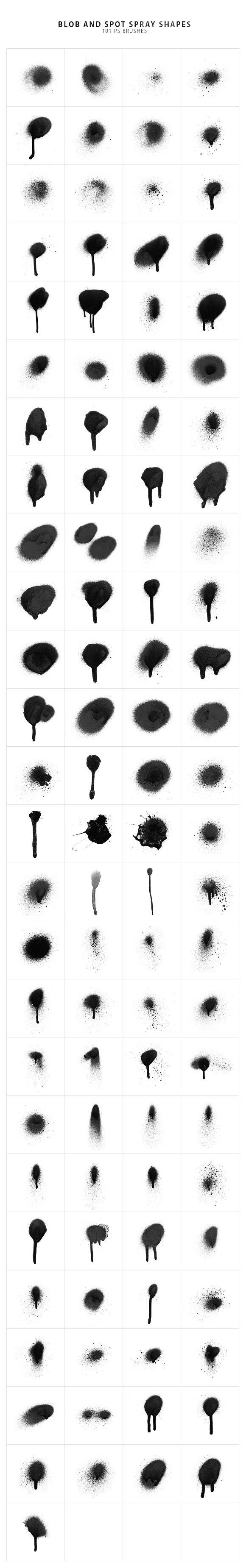 214 Spray Photoshop Brushes