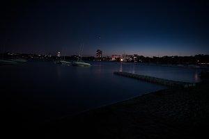 Nighttime lake