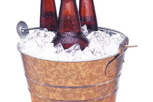 Beer Bottles in Bucket