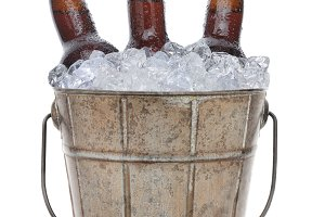 Old Fashioned Beer Bucket Closeup