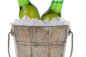 Old Fashioned Beer Bucket With Two B