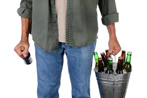 Man Carrying Beer