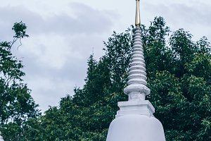 Thai Temple Rooftop with Golden Top